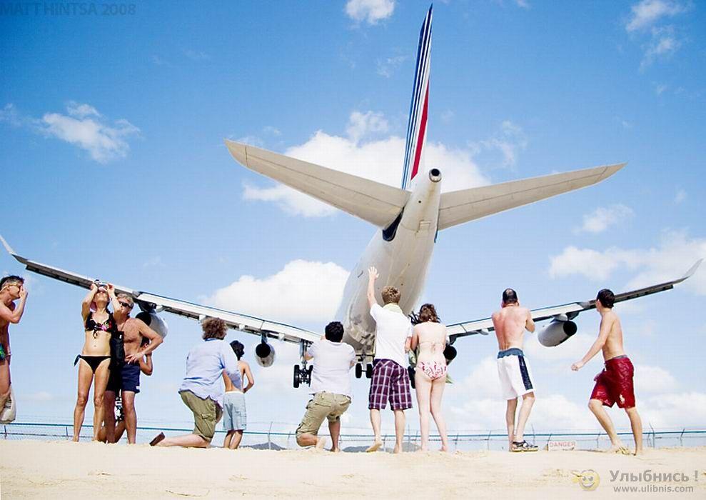 圣马丁岛朱莉安娜公主国际机场起降奇观