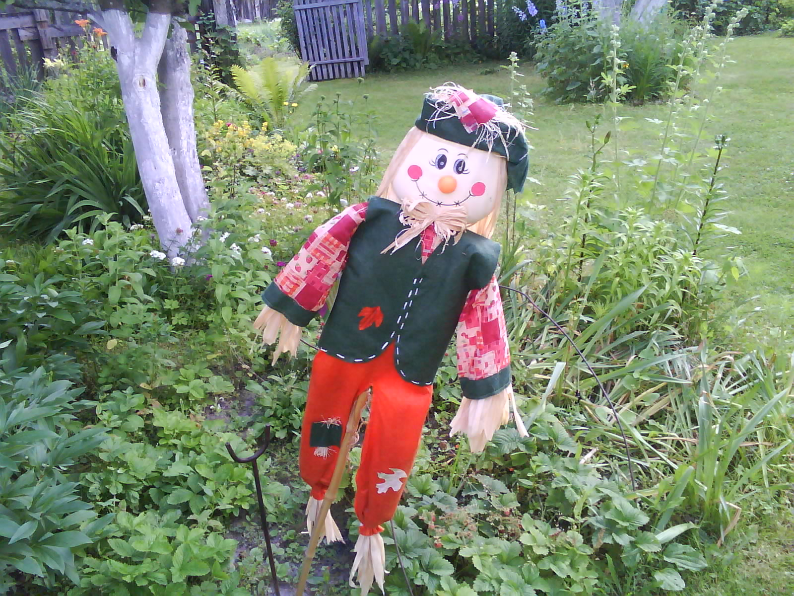 Сделать в огороде чучело своими руками фото