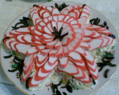 рецепты легких салатов на праздничный стол с фото