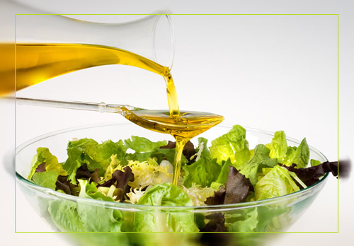 Салат из овощей с оливковым маслом