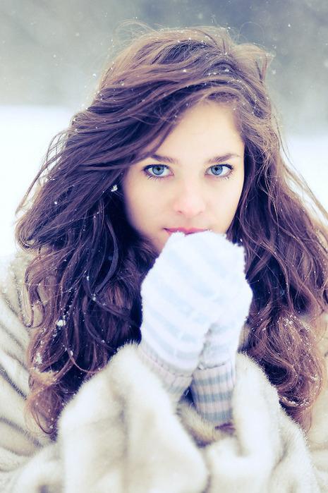 Картинки с красивой девушкой зимой