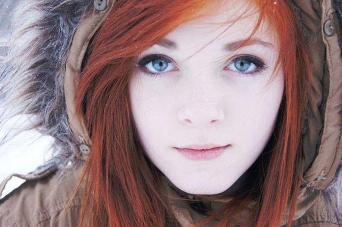 красивые картинки девушки рыжие