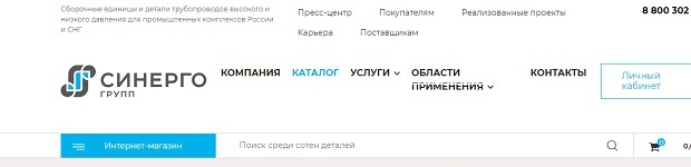 сборочные единицы и детали трубопроводов на synergogroup.ru