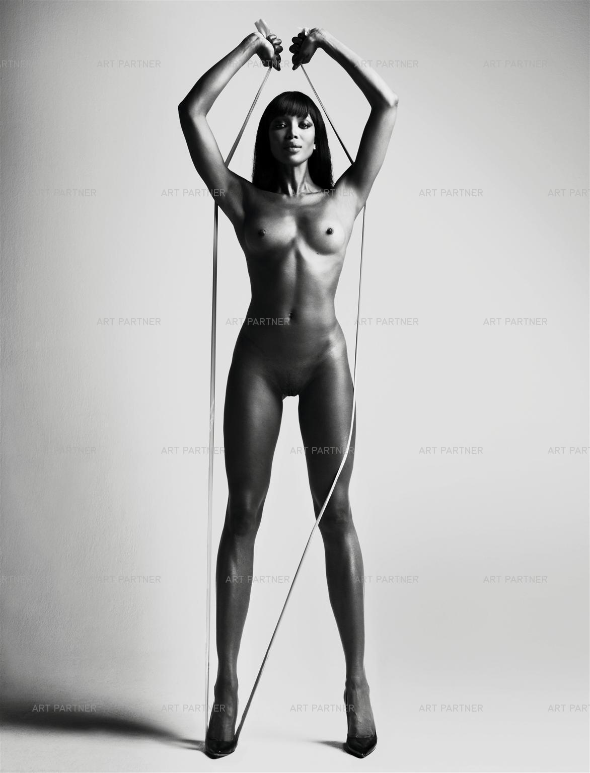 Nude girl handstand
